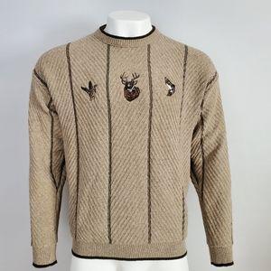 Croft & Barrow Deer Duck Fish Sweater Size M